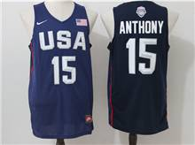 Mens Nba 12 Dream Teams #15 Carmelo Anthony Blue Jersey