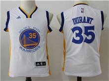 Youth Nba Golden State Warriors #35 Kevin Durant White Jersey