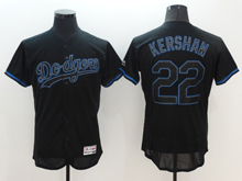mens majestic los angeles dodgers #22 clayton kershaw navy blue Flex Base jersey