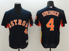 mens majestic houston astros #4 george springer navy blue Flex Base jersey