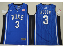 Mens Ncaa Nba Duke Blue Devils #3 Garyson Allen Blue Elite (v Neck) Jersey