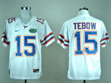 Mens Ncaa Nfl Florida Gators #15 Tim Tebow White Jersey