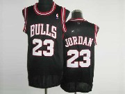 Mens NBA Chicago Bulls #23 JORDAN BLACK (WHITE NUMBER) Revolution 30 MESH JERSEY