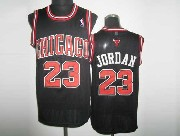 Mens NBA Chicago Bulls #23 JORDAN BLACK (Chicago Red Number) Revolution 30 MESH JERSEY