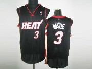 Mens Nba Miami Heat #3 Wade Black&white Number Revolution 30 Mesh Jersey
