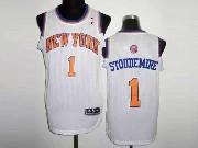 Mens Nba New York Knicks #1 Stoudemire White Revolution 30 Mesh Jersey (m)