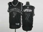 mens nba New York Knicks #7 Carmelo Anthony black&black number revolution 30 mesh jersey
