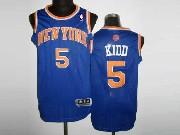 Mens Nba New York Knicks #5 Kidd Blue Revolution 30 Mesh Jersey