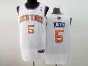 Mens Nba New York Knicks #5 Kidd White Revolution 30 Mesh Jersey