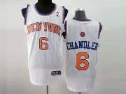 Mens Nba New York Knicks #6 Chandler White Revolution 30 Mesh Jersey