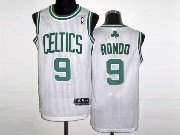 Mens NBA Boston Celtics #9 RONDO WHITE Revolution 30 MESH JERSEY