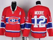 Mens nhl montreal canadiens #12 moore red (ch) with a throwbacks Jersey