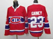 Mens nhl montreal canadiens #23 gainey red throwbacks Jersey