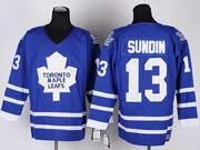 Mens nhl toronto maple leafs #13 sundin blue throwbacks Jersey