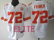 Mens Nfl Kansas City Chiefs #72 Fisher White Elite Jersey