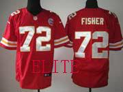 Mens Nfl Kansas City Chiefs #72 Fisher Red Elite Jersey