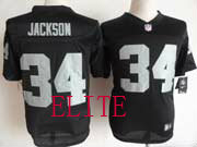 Mens Nfl Las Vegas Raiders #34 Bo Jackson Black Elite Jersey