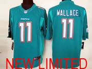 Mens Nfl Miami Dolphins #11 Wallace (2013 New) Green Limited Jersey