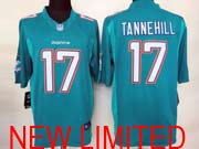 Mens Nfl Miami Dolphins #17 Tannehill (2013 New) Green Limited Jersey