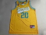 Mens Nba Seattle Supersonics #20 Payton Full Yellow Jersey (m)