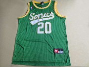 Mens Nba Seattle Supersonics #20 Payton Full Green Jersey (m)