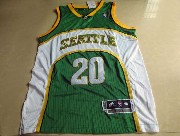 Mens Nba Seattle Supersonics #20 Payton Green Adidas Mesh Jersey