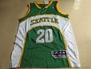 Mens Nba Seattle Supersonics #20 Payton Green Adidas Mesh Jersey