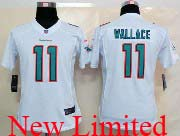 Women  Nfl Miami Dolphins #11 Wallace White (2013 New) Limited Jersey
