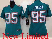 Women  Nfl Miami Dolphins #95 Jordan Green (2013 New) Limited Jersey