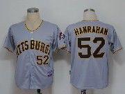 Mens Mlb Pittsburgh Pirates #52 Hanrahan Gray Cool Base Jersey