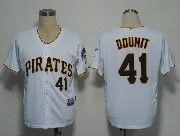 Mens mlb pittsburgh pirates #41 doumit white cool base Jersey