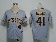 Mens Mlb Pittsburgh Pirates #41 Doumit Gray Cool Base Jersey