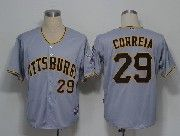 Mens Mlb Pittsburgh Pirates #29 Correia Gray Jersey