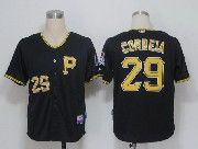 Mens mlb pittsburgh pirates #29 correia black Jersey