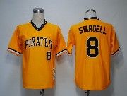 Mens Mitchell&ness Mlb Pittsburgh Pirates #8 Stargell Yellow Throwbacks Pullover Jersey