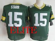 Mens Nfl Green Bay Packers #15 Starr Green Elite Jersey