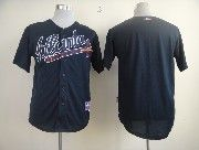 Mens mlb atlanta braves (blank) dark blue Jersey