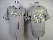 Mens Mlb Atlanta Braves #48 Hanson Gray Camo Number Jersey
