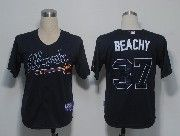 Mens mlb atlanta braves #37 beachy dark blue Jersey