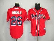 Mens mlb atlanta braves #26 uggla red Jersey