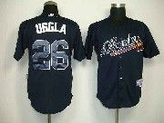 Mens mlb atlanta braves #26 uggla dark blue Jersey