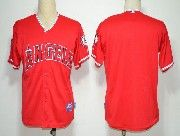 Mens mlb los angeles angels (blank) red Jersey