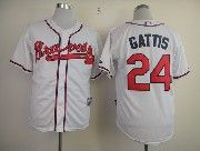 Mens mlb atlanta braves #24 gattis white Jersey
