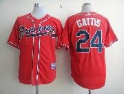 Mens mlb atlanta braves #24 gattis red Jersey