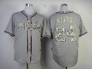 Mens Mlb Atlanta Braves #24 Gattis Gray Camo Bumber Jersey