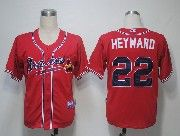 Mens mlb atlanta braves #22 heyward red Jersey