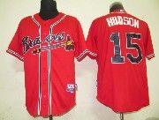 Mens mlb atlanta braves #15 hudson red Jersey