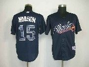 Mens mlb atlanta braves #15 hudson dark blue Jersey