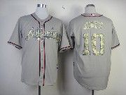 Mens Mlb Atlanta Braves #10 Jones Gray Camo Number Jersey