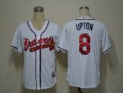 Mens mlb atlanta braves #8 upton white Jersey